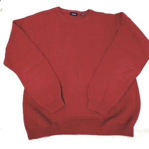 Izod Burgundy knit heavy winter sweater large